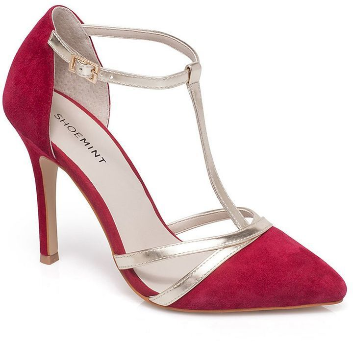 $39, Shoemint Bourne Strappy Suede High Heels. Sold by Kohl's. Click for more info: https://lookastic.com/women/shop_items/356678/redirect