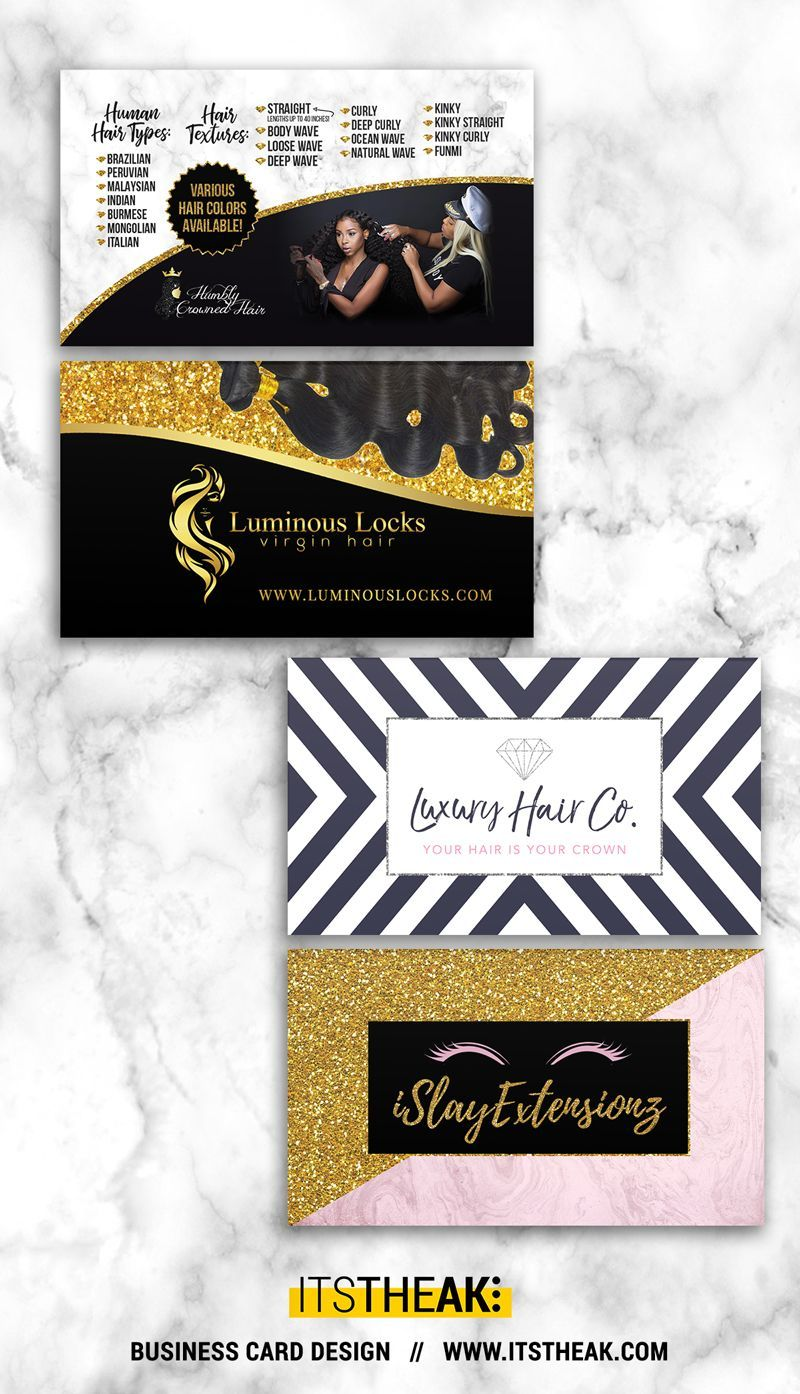 e278d80a85e Business Cards - Customized Design - Professional Printing - Choose from  gorgeous premade templates! // Personalized for your Hair Extension Business  Brand ...