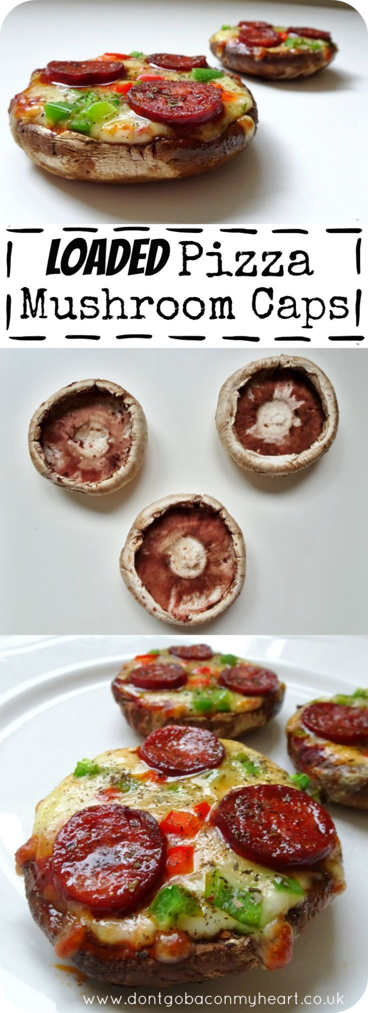 These Loaded Pizza Mushroom Caps are great for the lowcarb community among us Super easy quick and great fun  Lets make pizzas great again