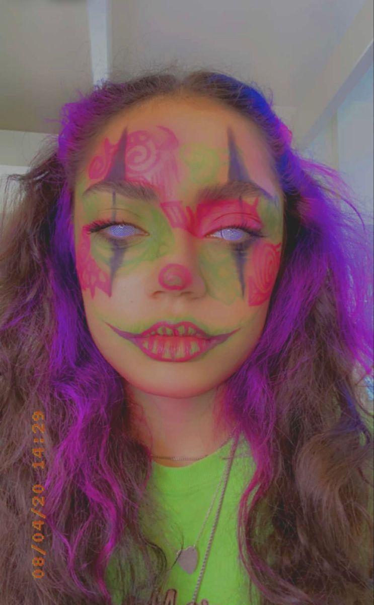 Follow My Tiktok Sassychxr Halloween Makeup Clown Halloween Makeup Inspiration Girl Clown Makeup