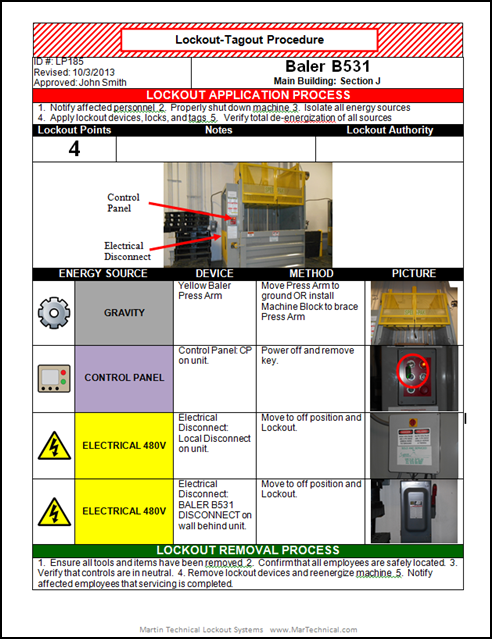 We provide lockout tagout services which are implemented on the ...