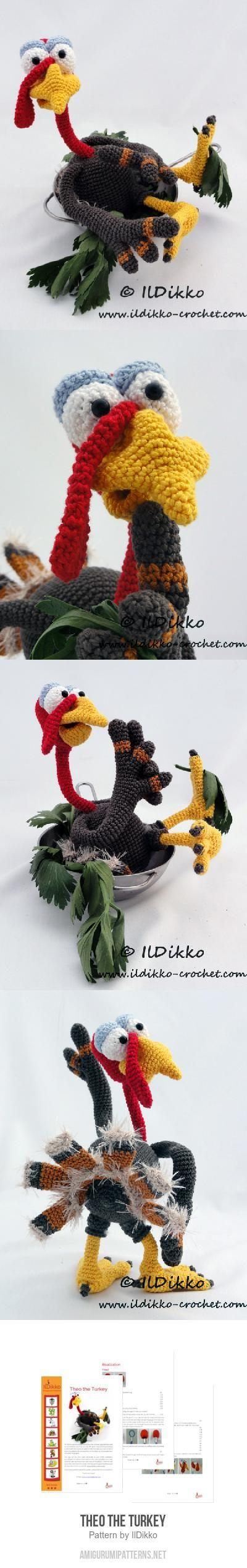 Theo The Turkey Amigurumi Pattern More | Crochet | Pinterest
