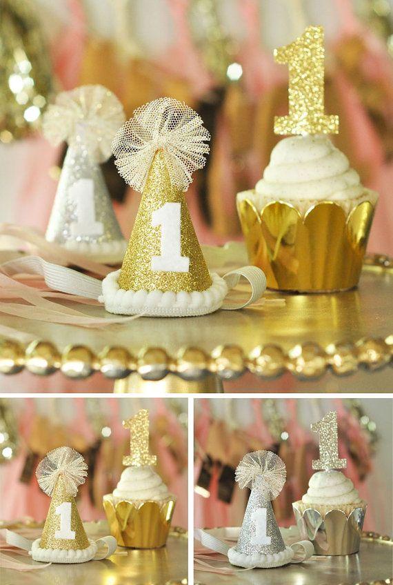 1st Birthday Hat 1st Birthday Party Hat Girl Baby Girl 1st
