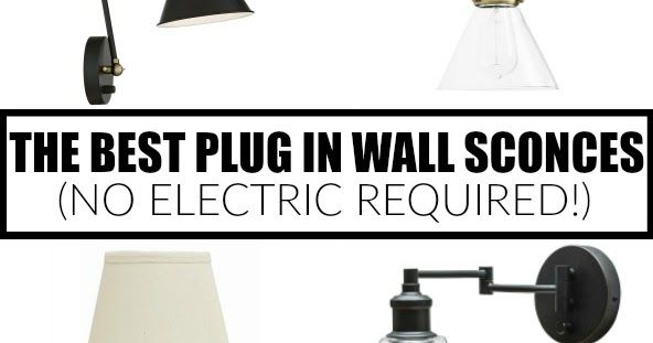 12 of The Best Plug In Wall Sconces (no electric required ... on Sconces No Electric Plug id=52245