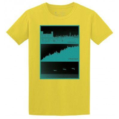 GoldCoast Platinum T-shirt Yellow $25
