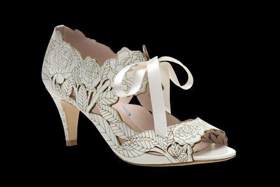 Peony Low Heel Wedding Shoes Low Heel Bridal Shoes Bridal