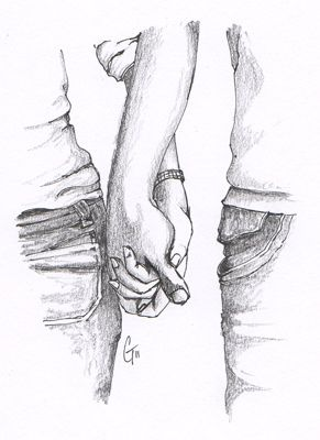 Images Pencil Sketches Of Couples Holding Hands