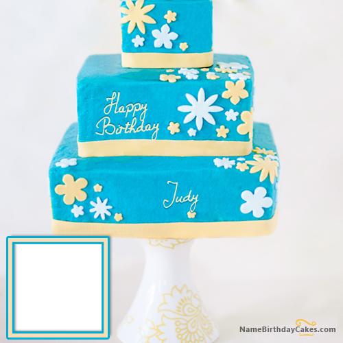 Cool Happy Birthday Cake With Name Judy Happy Birthday Cakes