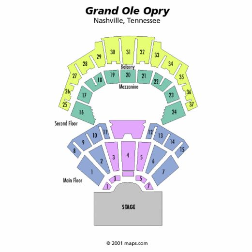 Grand Ole Opry House Seating Opry Grand Ole Opry Chart