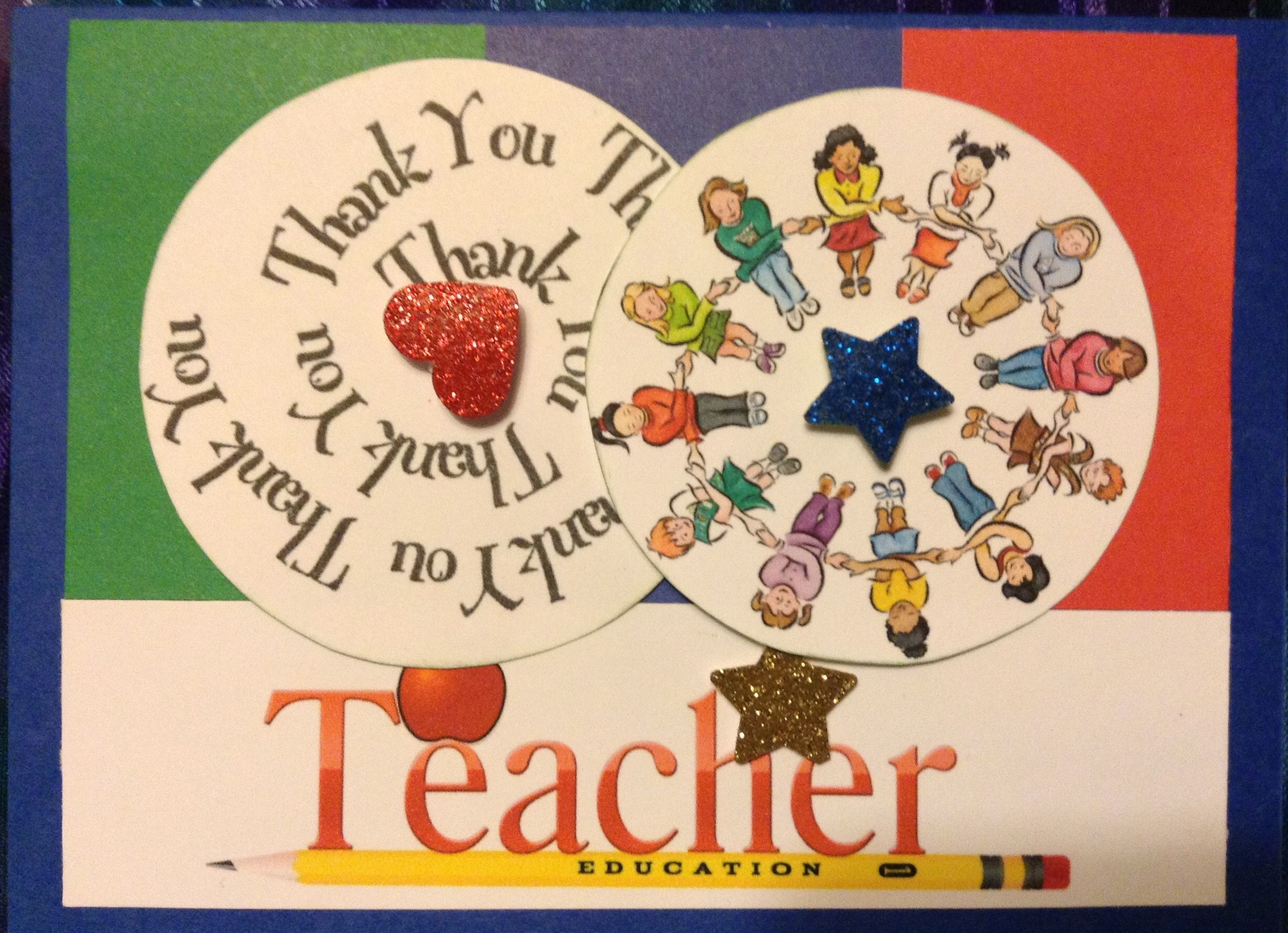 Thank you to a teacher in elementary or day care end of scholl or
