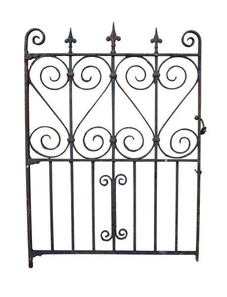 Antique Wrought Iron Pedestrian Side Gate Uk Architectural Heritage Wrought Iron Side Gates Architectural Antiques