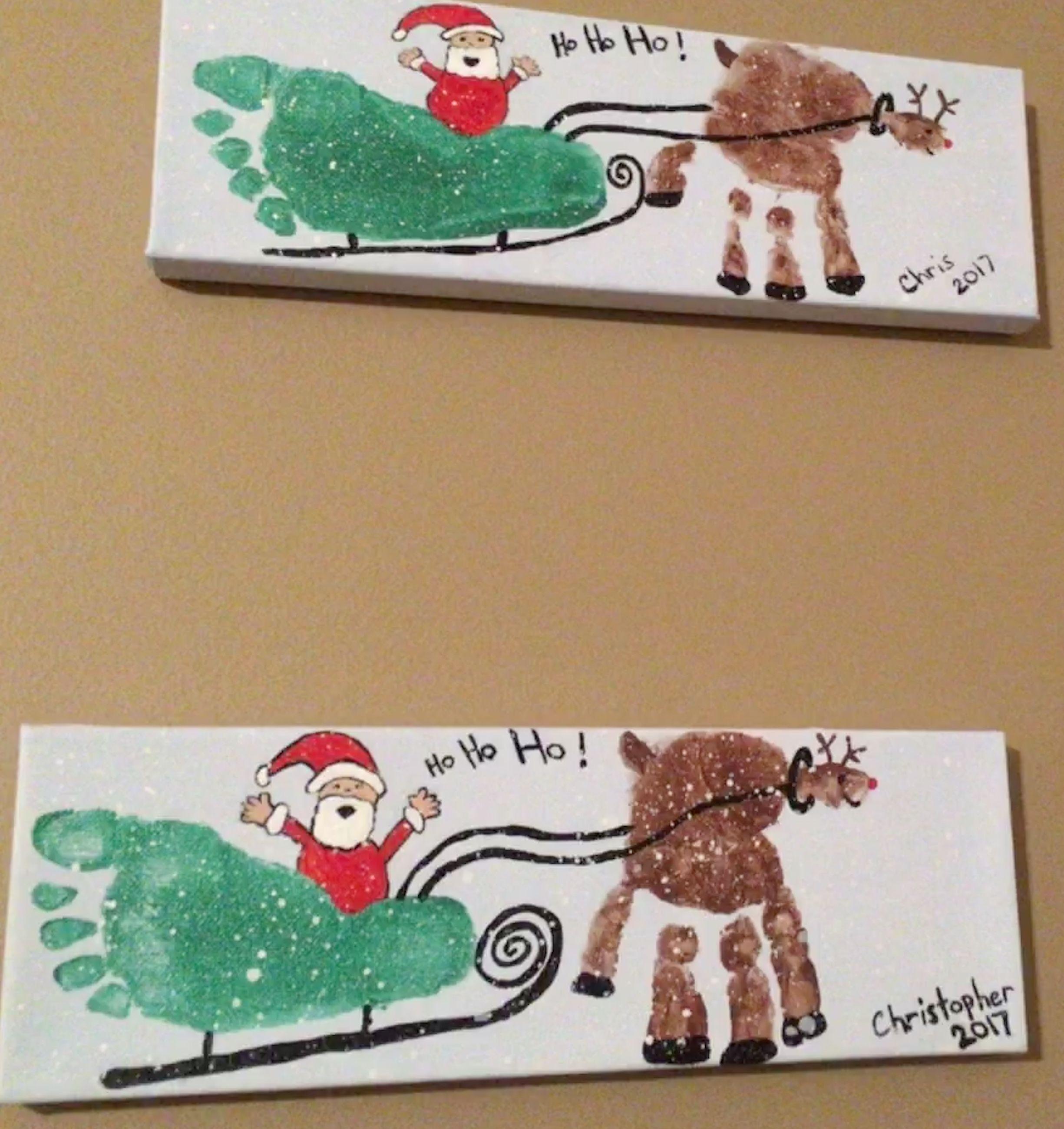 Toddler Crafts Santas Sleigh & Rudolf