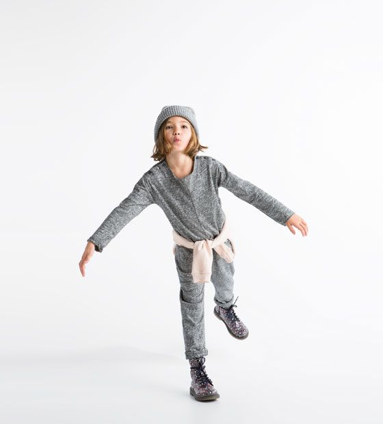 Long Sleeve Jumpsuit Adorable But How Do They Go To The Bathroom Zara Kids Dresses For Tweens Kids Outfits