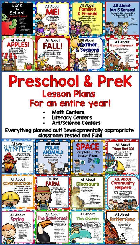 20 5Day Lesson Plans for Preschool, PreK, K & Homeschool