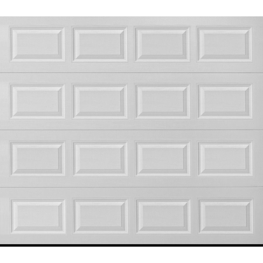 Pella Traditional 108 In X 96 In White Single Garage Door 123476 In 2020 Single Garage Door White Garage Doors Garage Door Installation