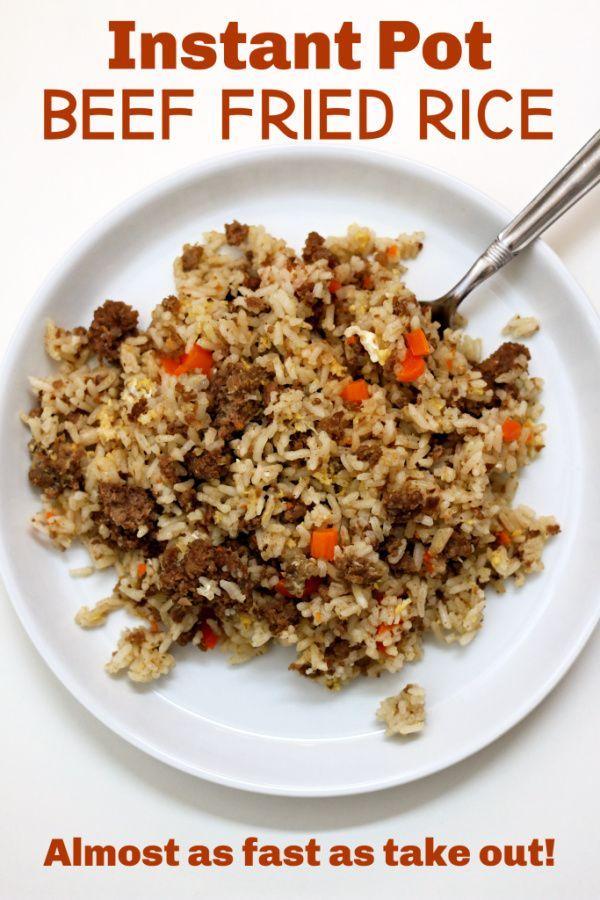 Instant Pot Beef Fried Rice #beefandrice