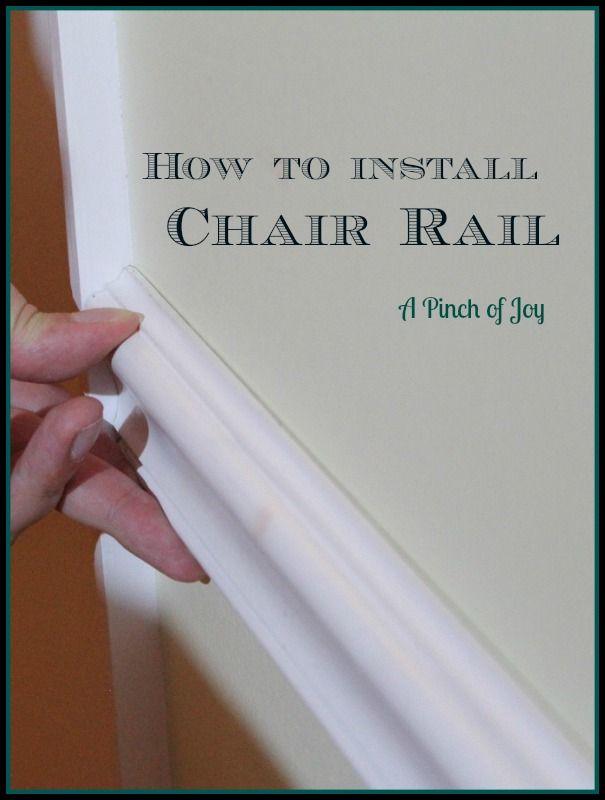 Making A Chair Rail Part - 24: DIY Basics: Chair Rails--For All The Rooms! Love A Good Chair Rail