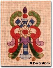 """DC-63 Imperial Ornament #18 Mesh, 5"""" x 3 1/2"""" Adapted from antique Russian jewelry design."""
