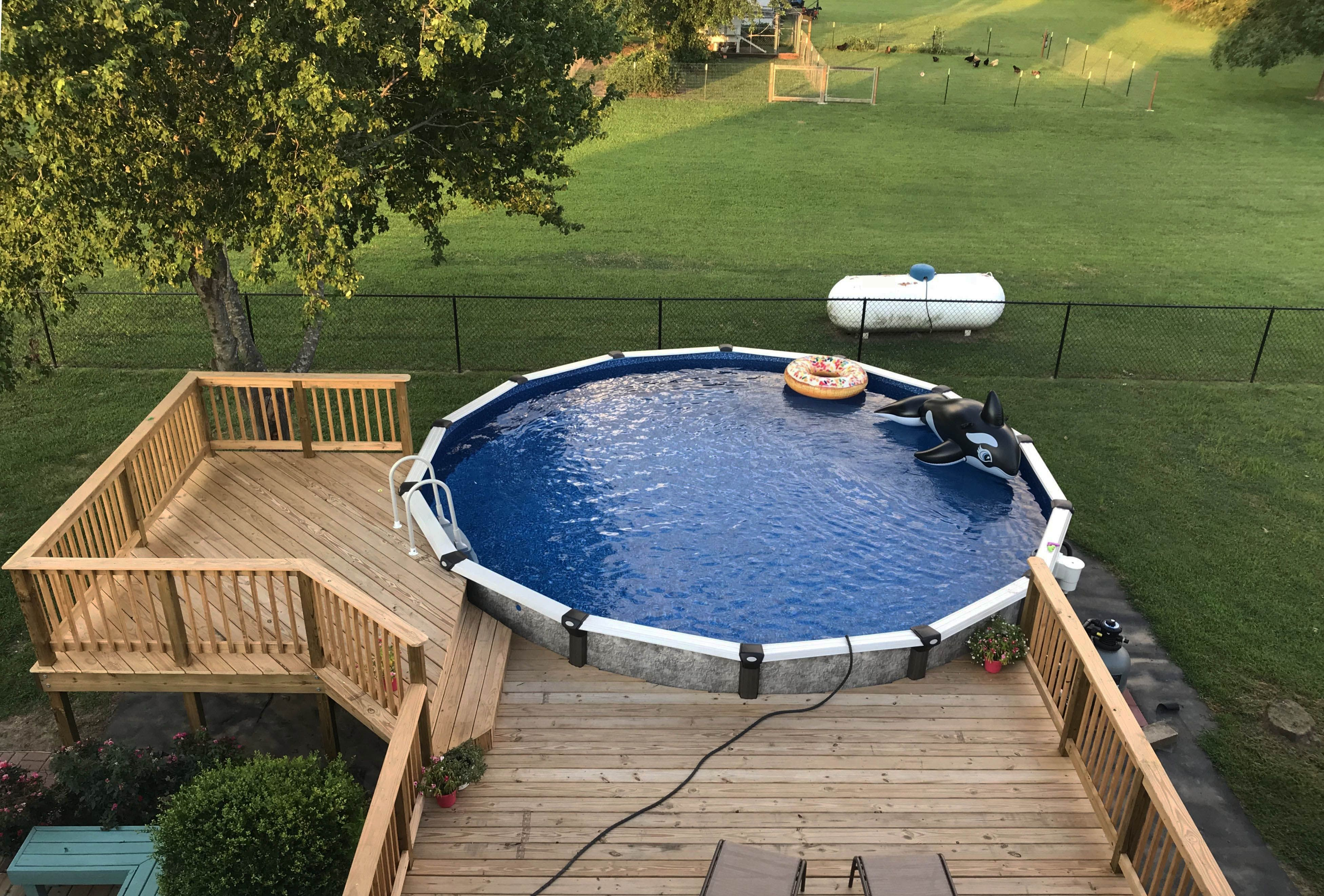 Get Encouraged Above Ground Pool Designs Above Ground Pool Pool Decks In Ground Pools