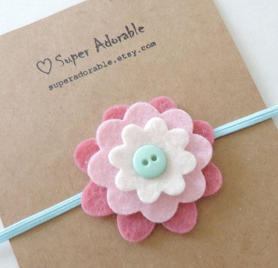 Felt Flower Headband  Baby Felt Headband Toddler by SuperAdorable, $6.50 #feltflowerheadbands