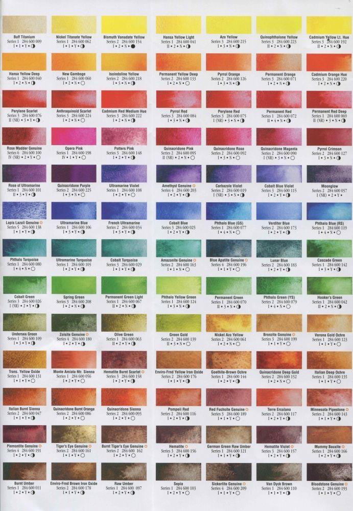 Daniel Smith Watercolor Chart Google Search Httpdanielsmith