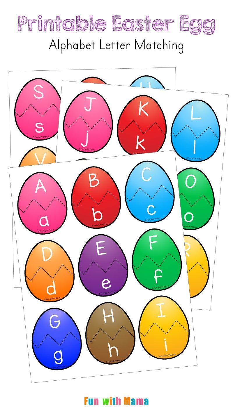 Easter Alphabet Letter Match Activity for Preschoolers