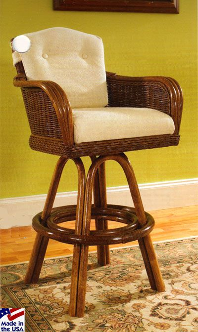 Bodega Bay Wicker Bar Stool And Caster Dining Sets By Clic Rattan