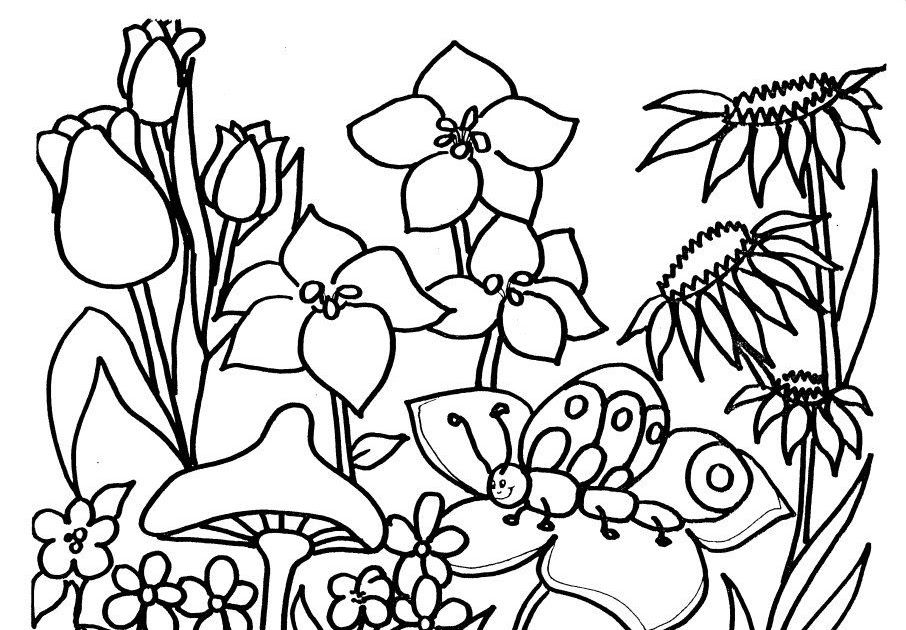 Pin By Colouring Mermaid On Greeting Cards Garden Coloring Pages Gardening Printables Colorful Garden