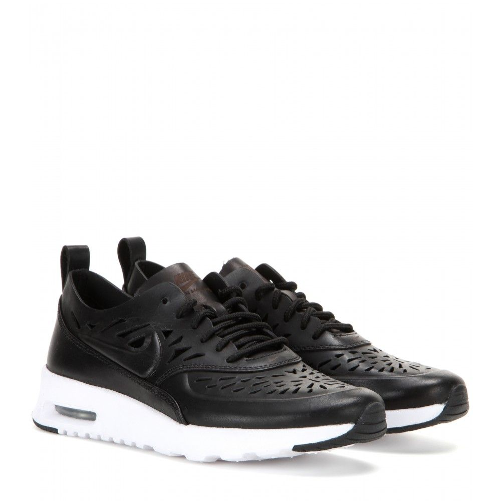 hot sale online dec1a dfc89 mytheresa.com - Nike Air Max Thea Joli laser-cut leather sneakers - Sneakers  - Shoes - Nike - Luxury Fashion for Women   Designer clothing, shoes, bags