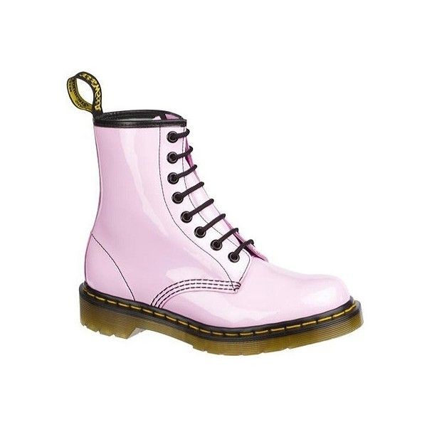 Dr Martens 1460 8 Eye Boot Patent Lamper Pastel Colors Pink Combat Boots Lace Combat Boots Boots