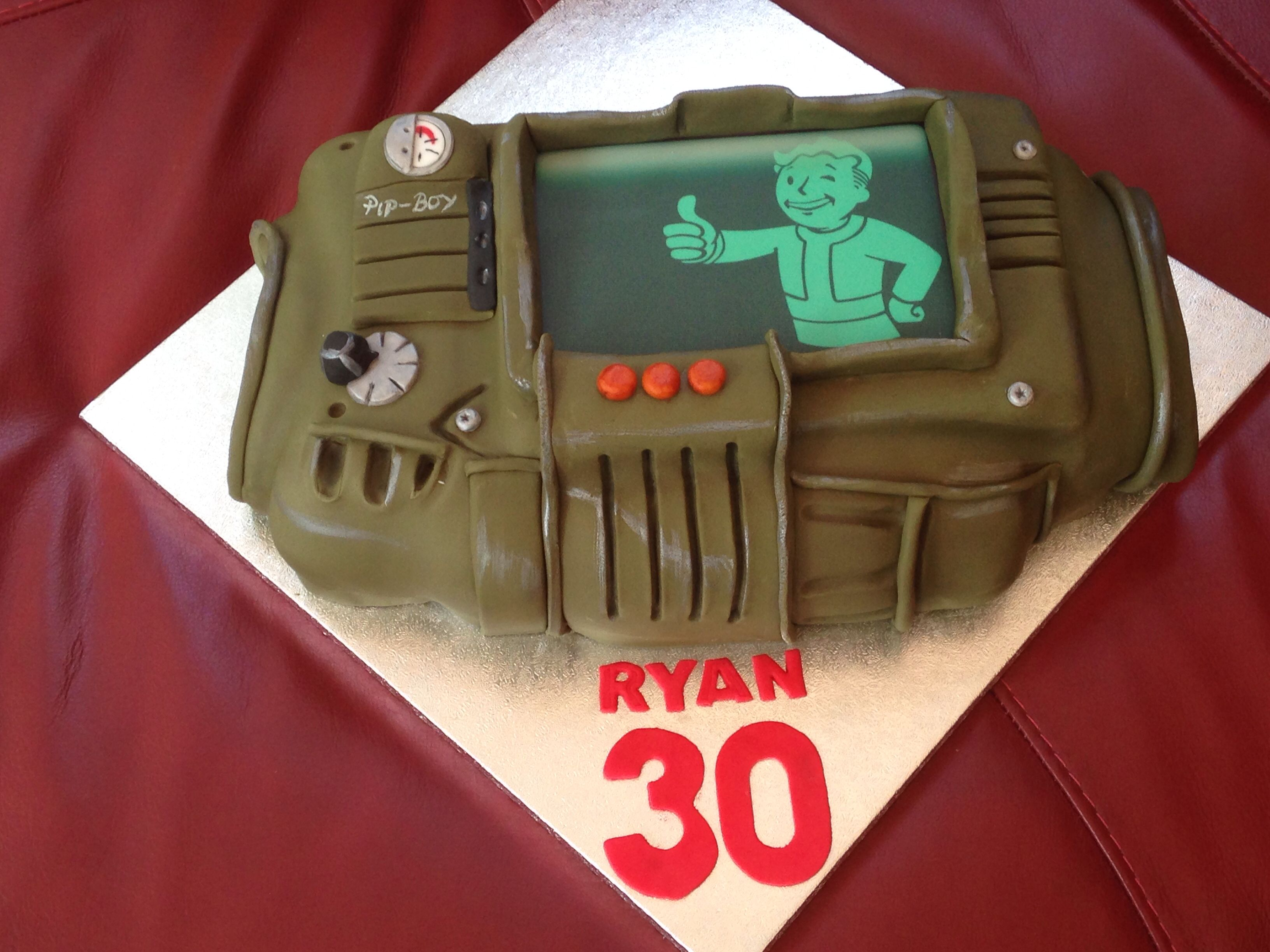 Fallout Theme Cake Geek Food Boy Birthday Cake Themed Cakes