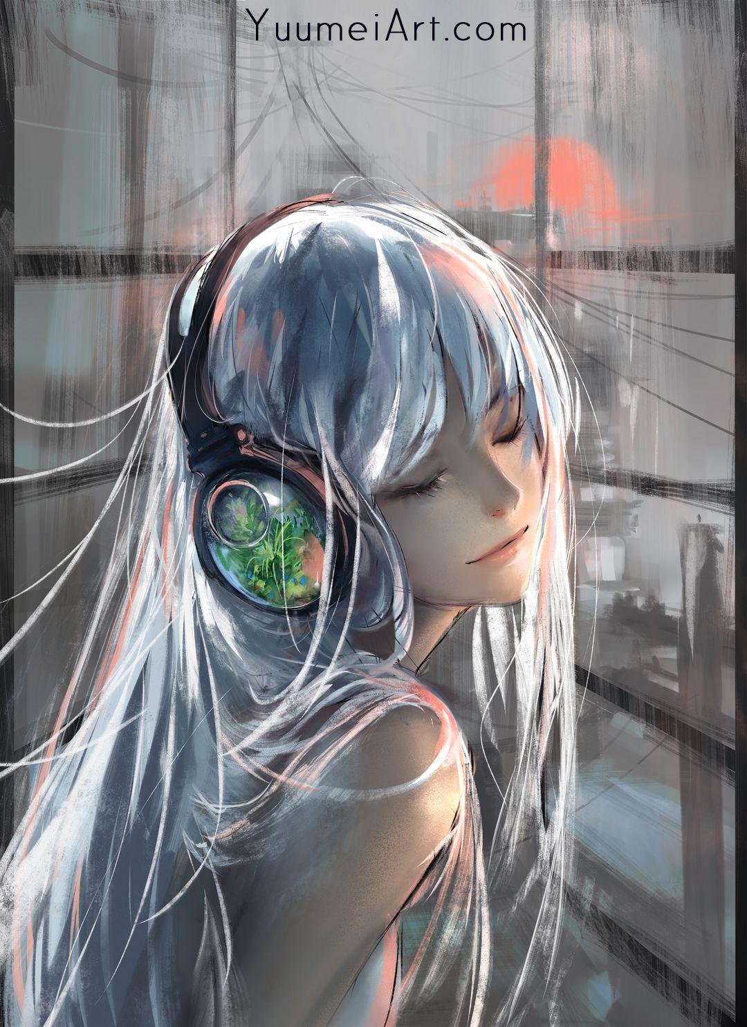 Yuumei — Iridescent  Anime art beautiful, Anime art girl, Art