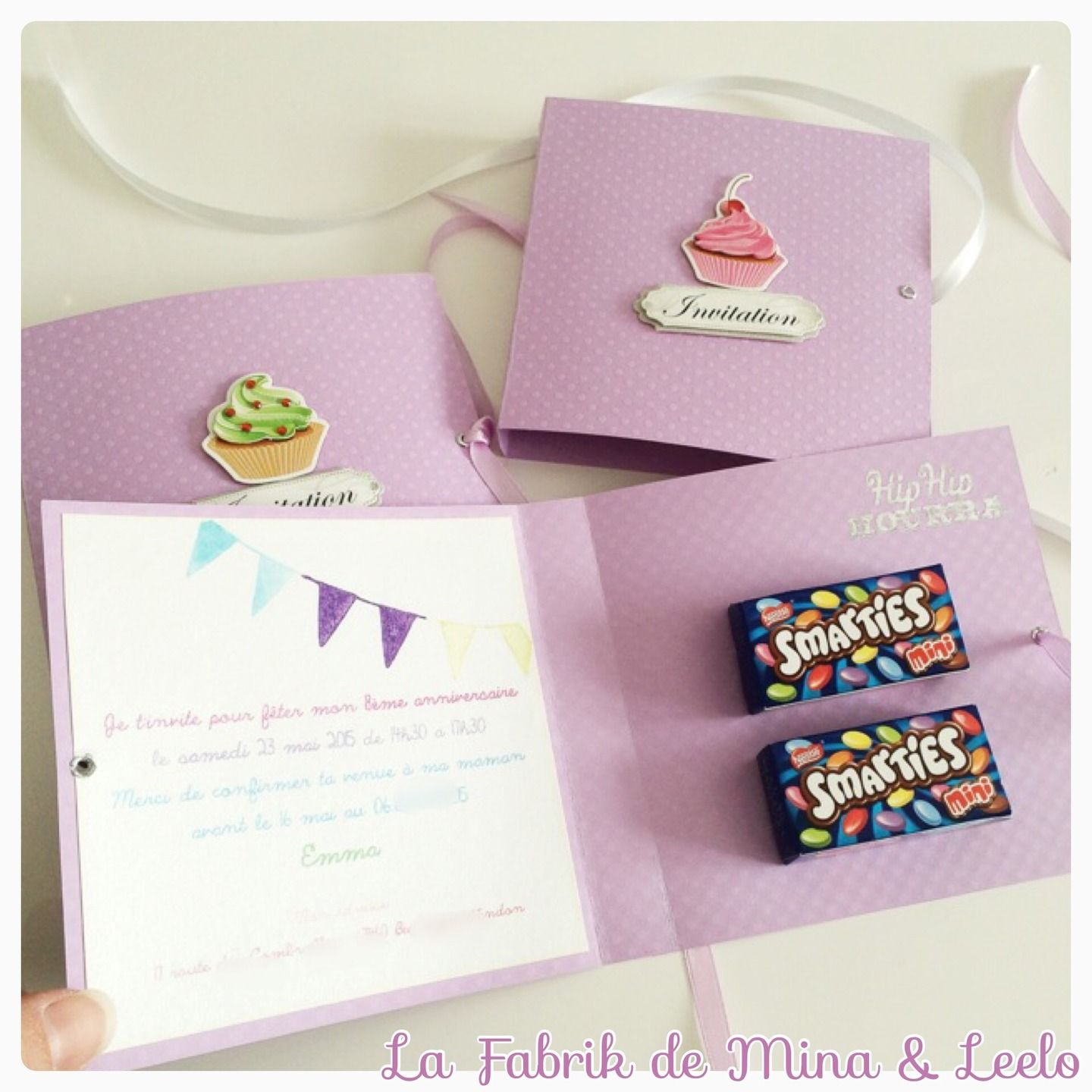 Jolie Carte D Invitation Anniversaire Enfant Entierement Faite A La