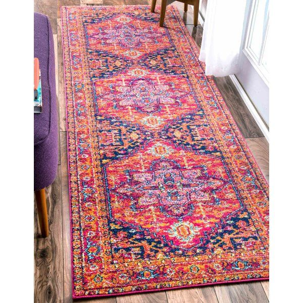 Christophe Blooming Pink Orange Area Rug Rugs Pinterest Rugs