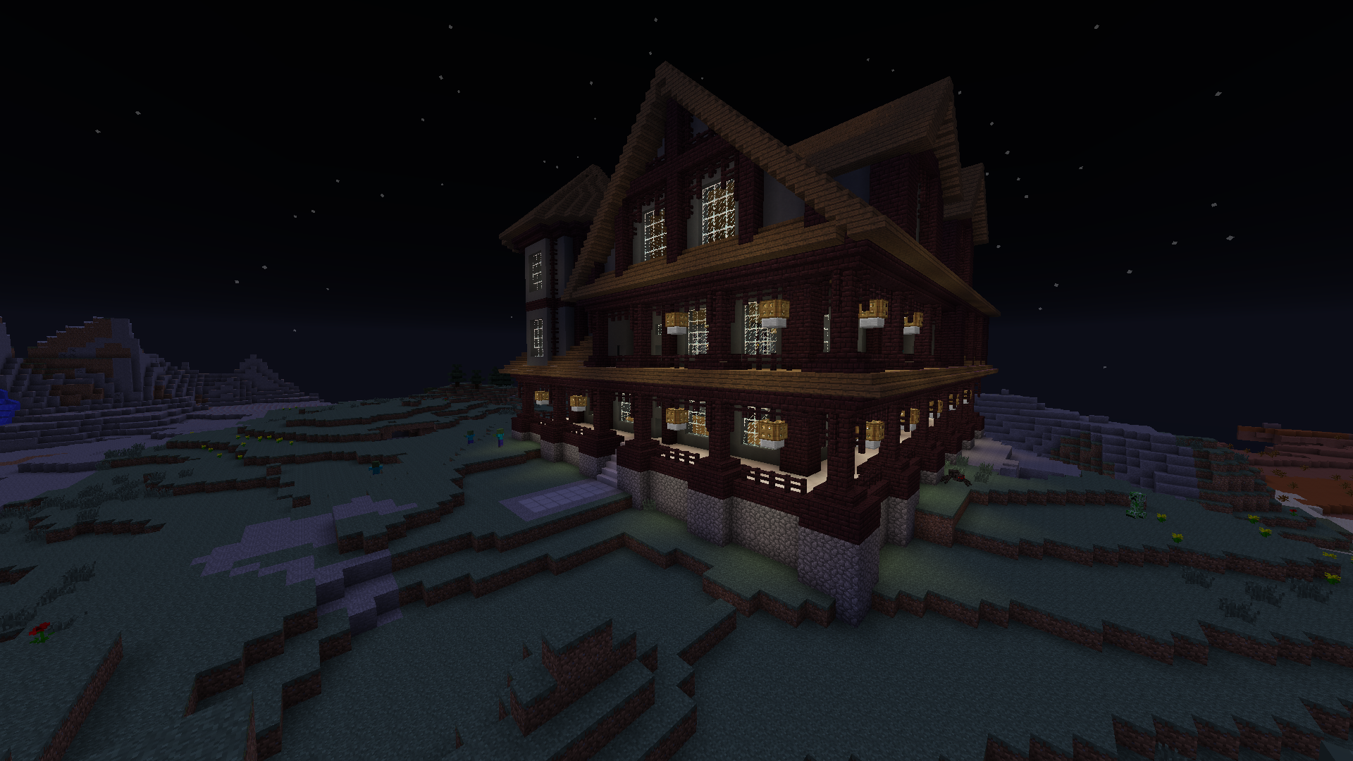 A house I just finished building on my server  | Minecraft