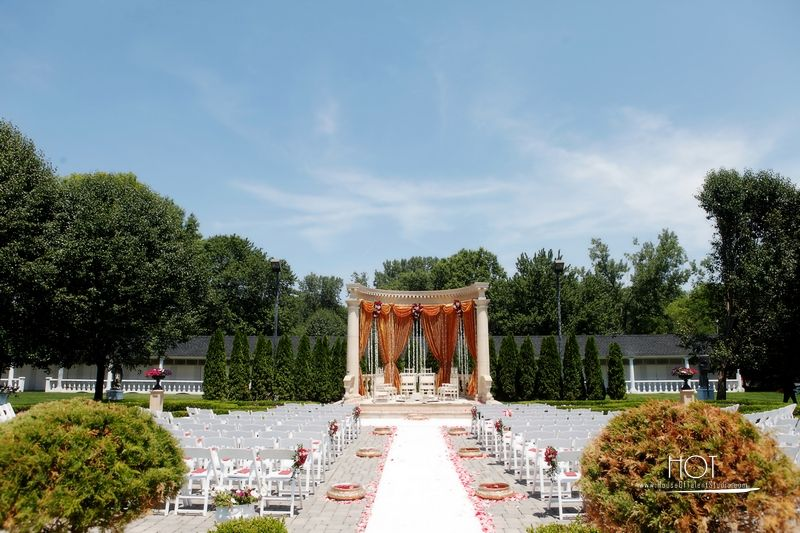 traditional indian wedding mandap setup at rockleigh country club nj httptherockleigh