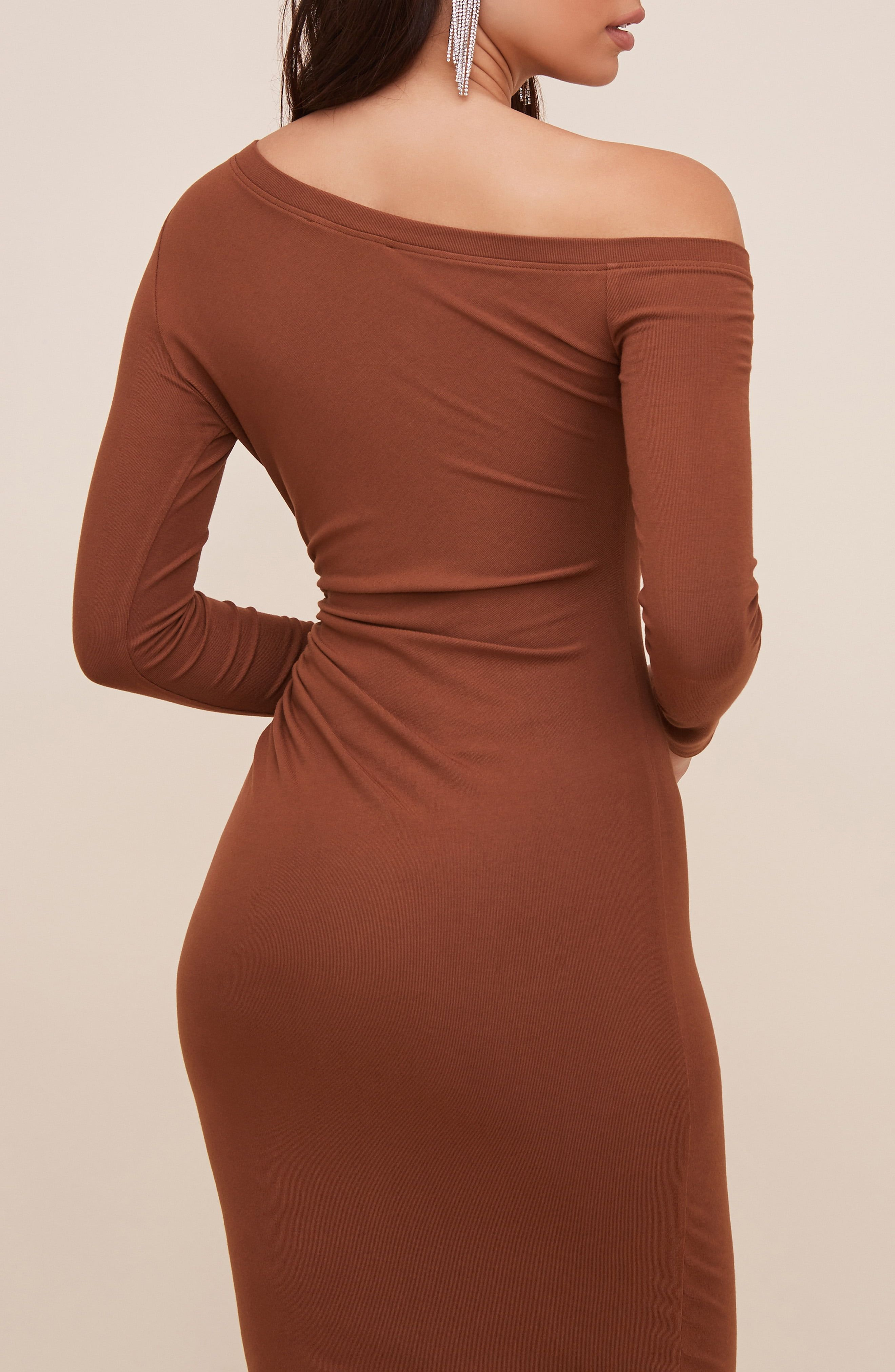 Astr The Label One Shoulder Long Sleeve Midi Dress Nordstrom In 2021 Long Sleeve Midi Dress Midi Dress Dresses [ 4048 x 2640 Pixel ]
