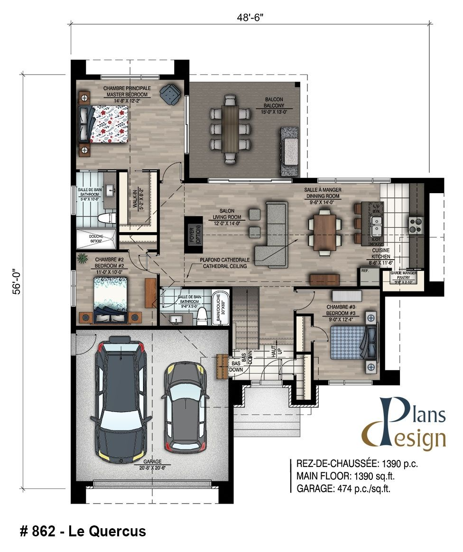 862 Le Quercus Bungalow Chalet Mobilite Reduite Handicape Maison Secondaire Plans Design In 2020 Building Plans House Modern House Plans House Plans