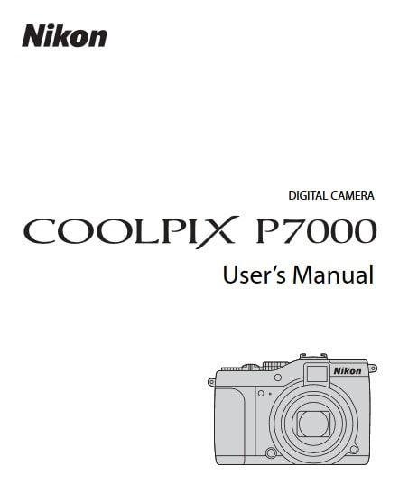 Nikon Coolpix P7000 Manual, Camera Owner User Guide and