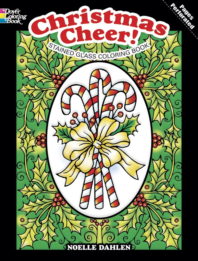 Christmas Cheer Stained Glass Coloring Book