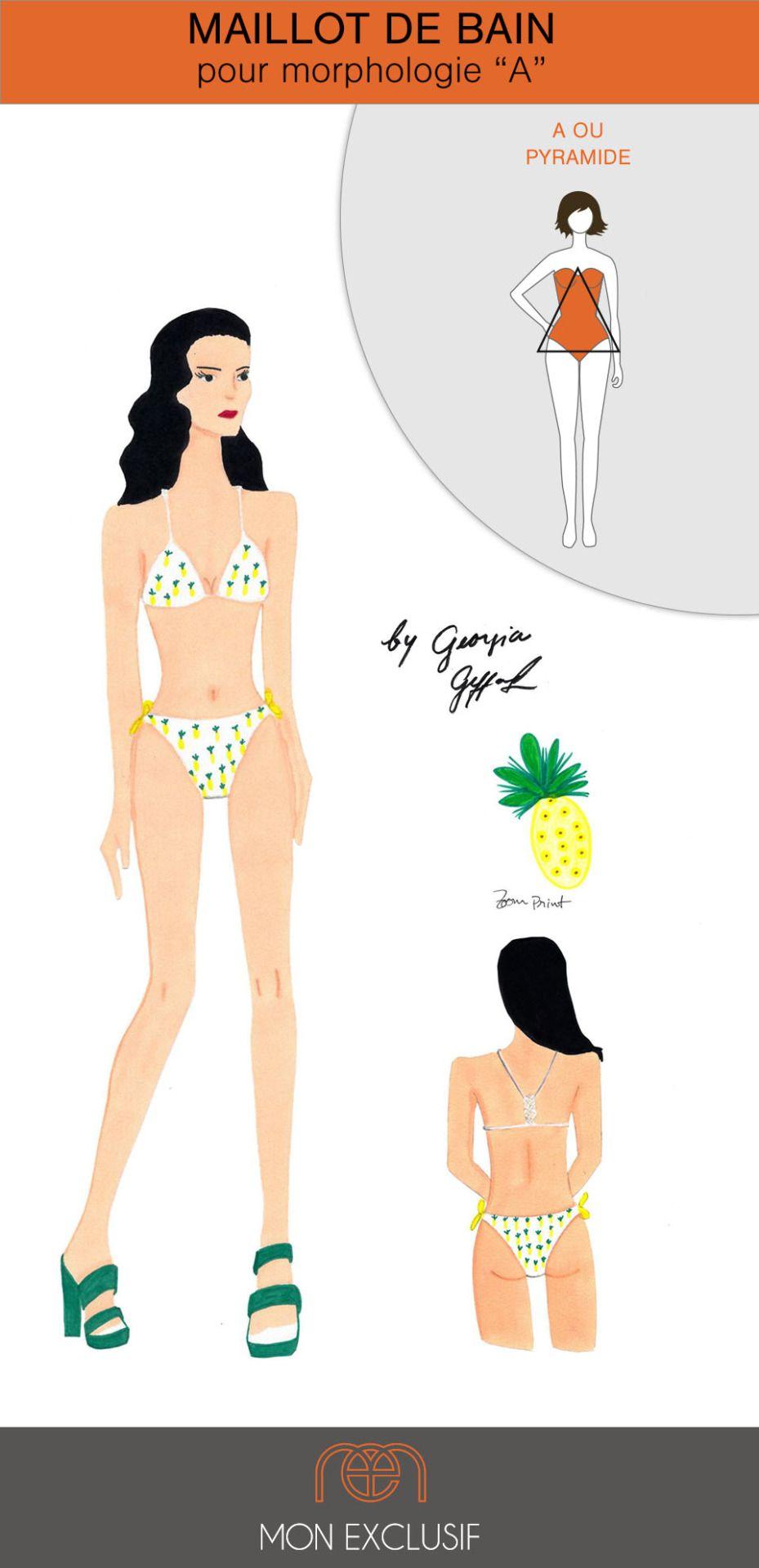 62e3d46bc5 Votre silhouette forme un V. Georgia Its vous a dessiné ce maillot de bain  deux-pièces qui valorise votre poitrine avec des formes ...