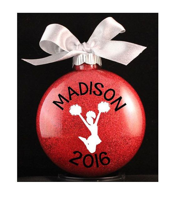 Cheerleader Christmas Ornament Cheer Ornament by myposhcreations - Cheerleader Christmas Ornament, Cheer Ornament With Name And Year