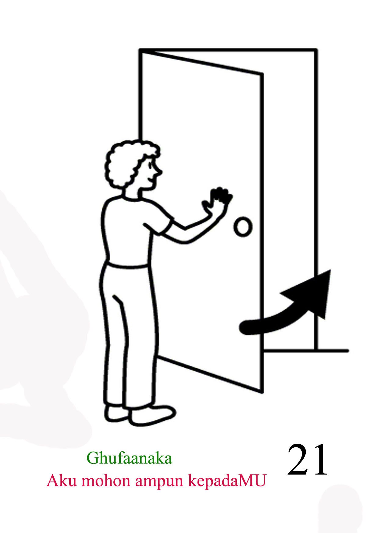 go out and close the door | Toileting Compic Card | Pinterest