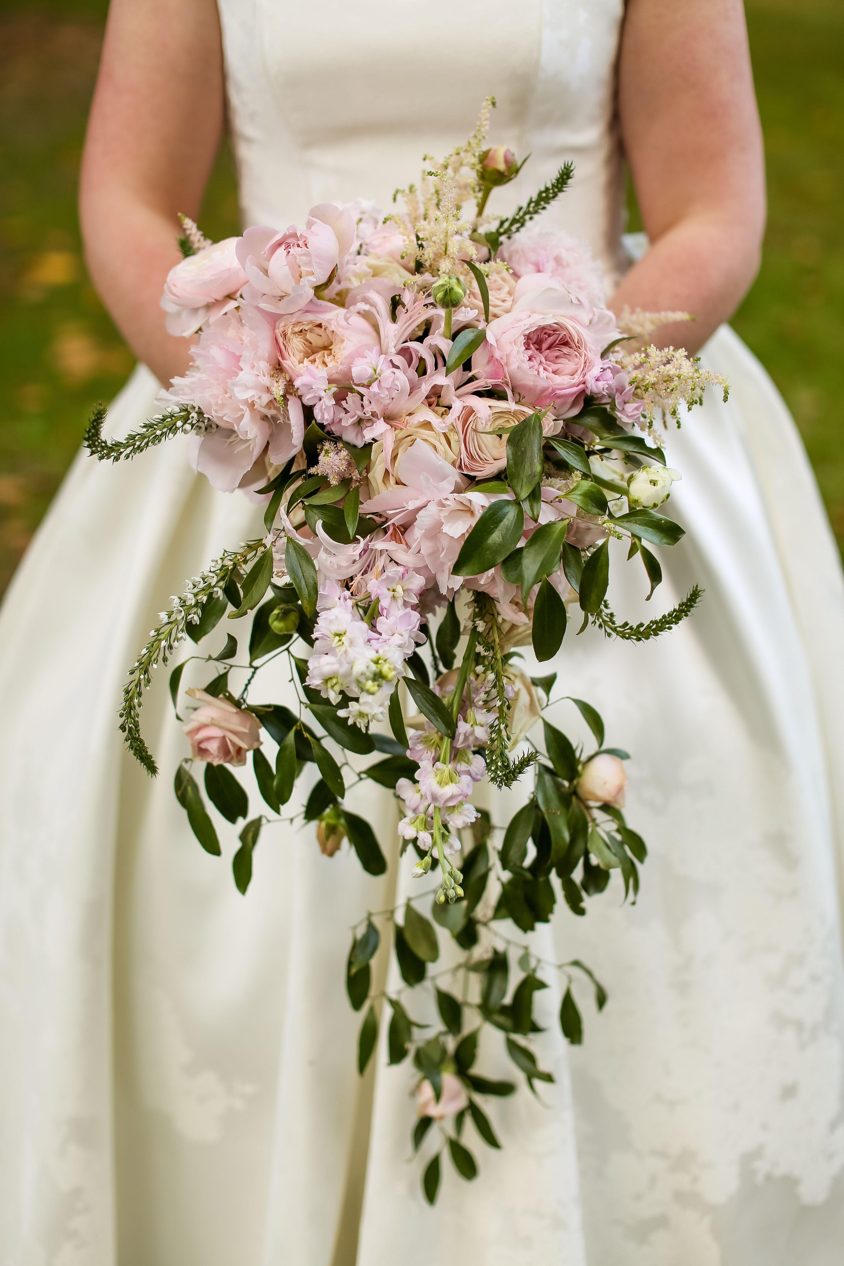 Cascading bouquet cascade bouquet garden bouquet peony