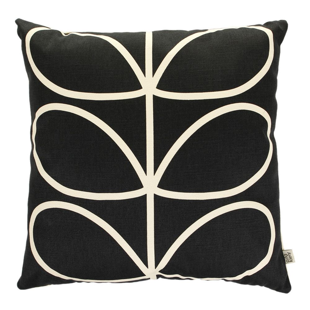 Discover The Orla Kiely Linear Stem Cushion Slate Blue At Amara