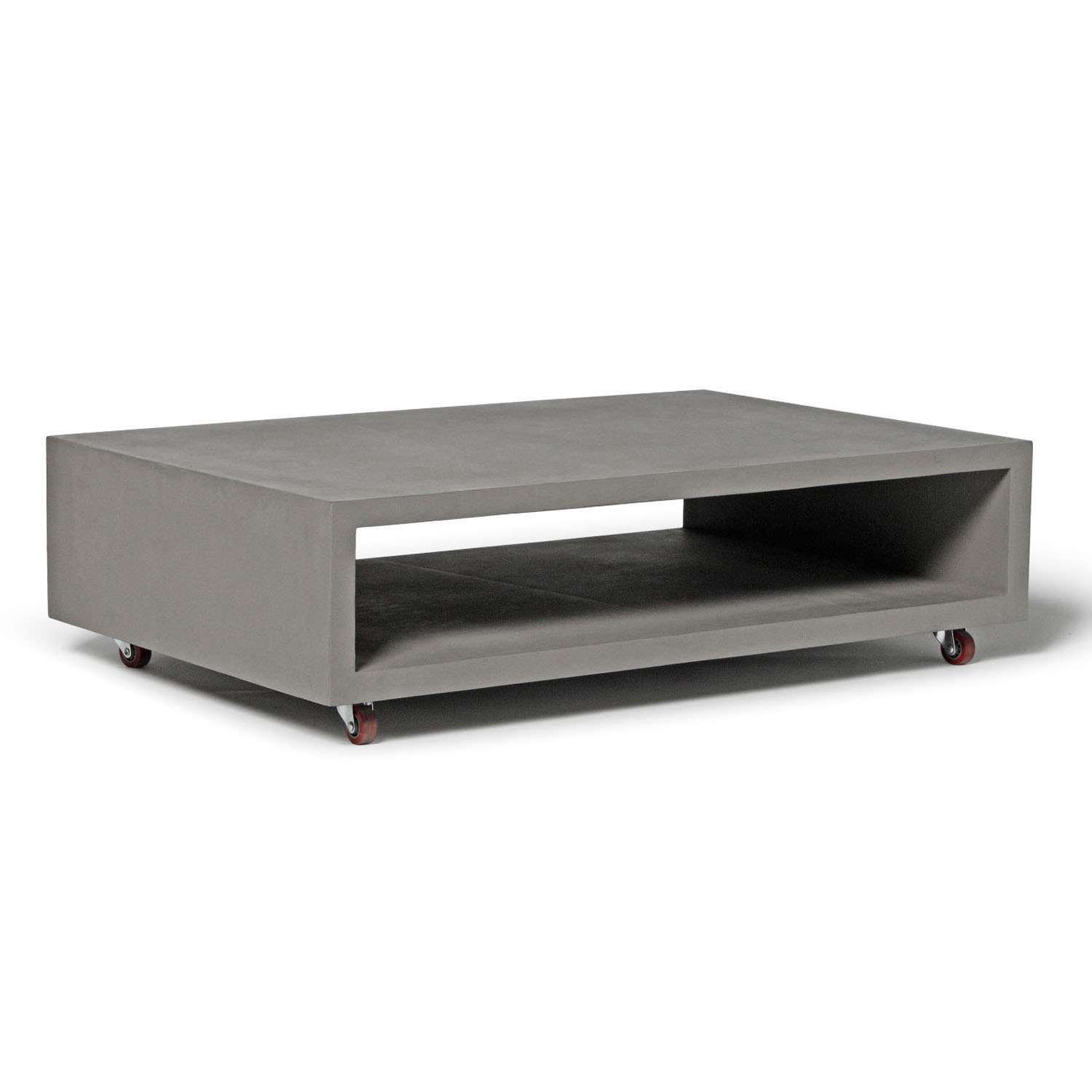 Couchtisch Monobloc Xl Monobloc Rectangular Coffee Table With Wheels My House