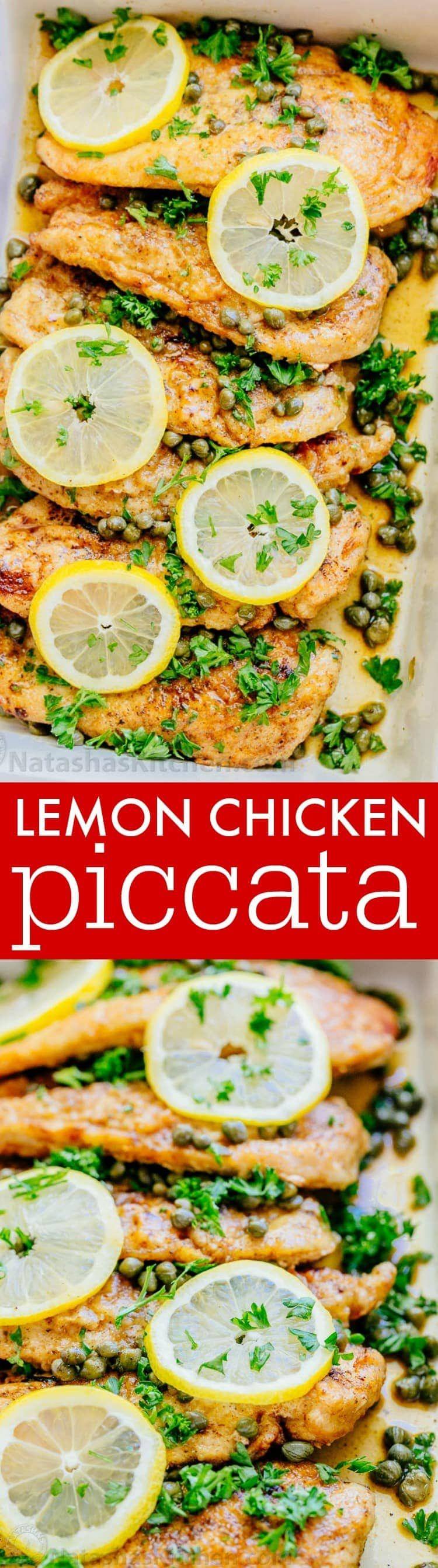 Chicken Piccata Recipe Video Natashaskitchen Com Chicken Piccata Recipe Chicken Piccata Chicken Recipes