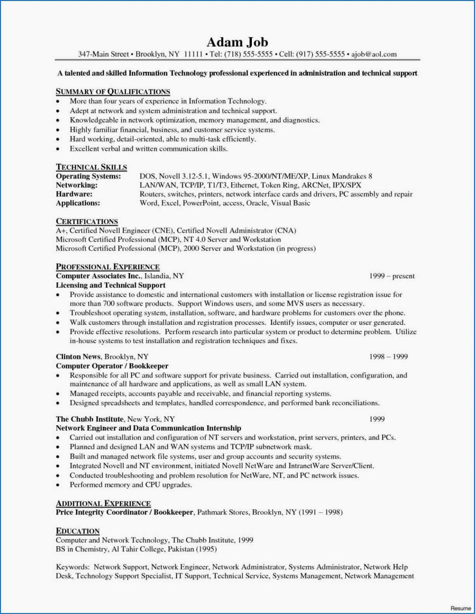 System Engineering Resume Examples Lovely 38 Junior Network Engineer Resume Riverheadfd Job Resume Examples Sample Resume Network Engineer