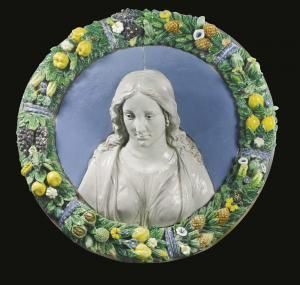 Giovanni Della Robbia - Tondo With A Bust Of A Young Woman