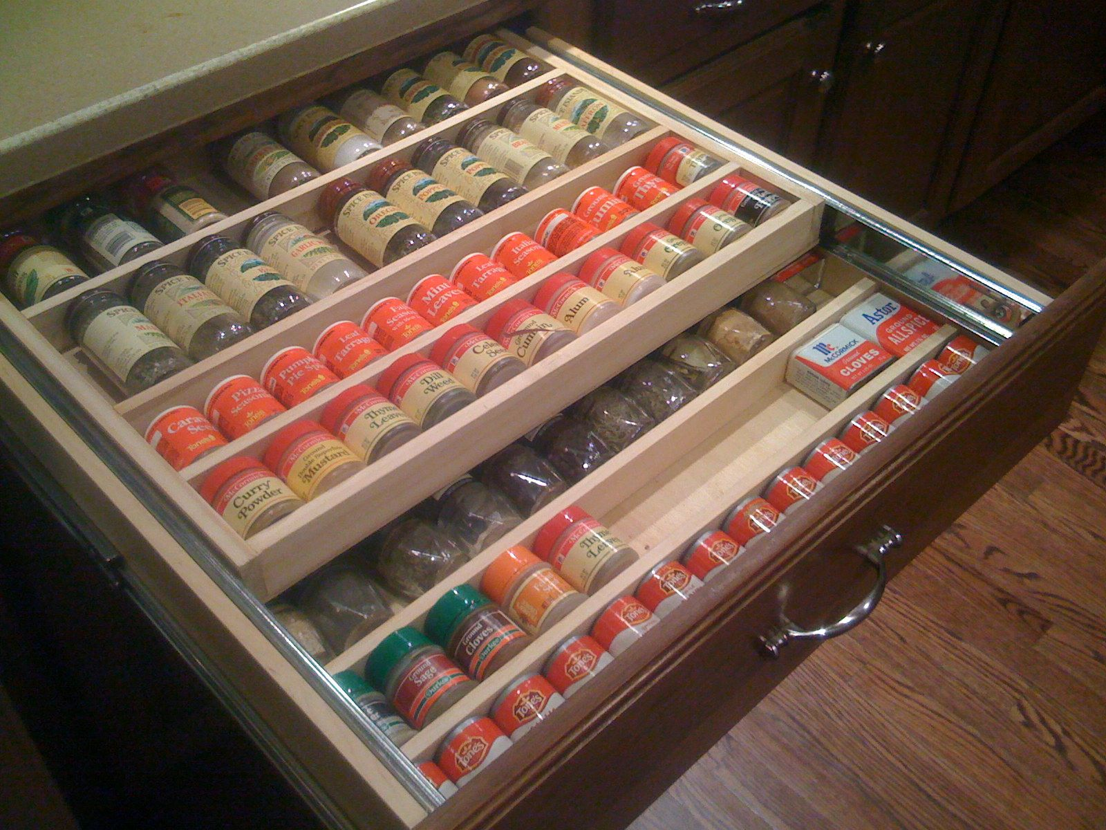 Great For Organizing Jars And Spices With Spice Drawer Organizer Rolling Spice Rack Spice Drawer Organ Spice Organization Drawer Spice Drawer Kitchen Spices